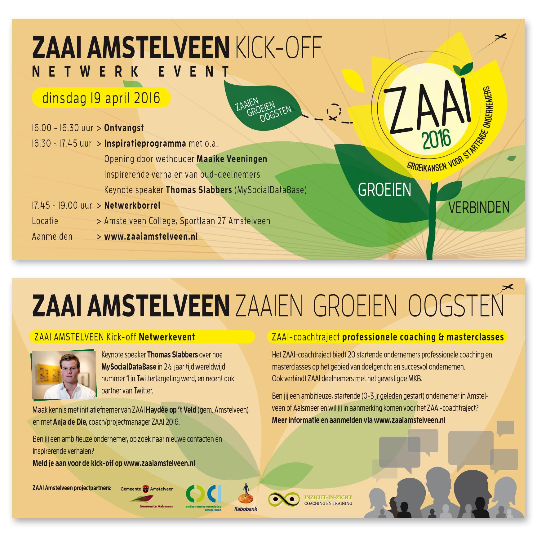 Flyer ZAAI Amstelveen 2016